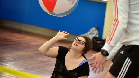 Hall School sports day. Talita Campeao playing volleyball.Picture: ANTONY KELLY