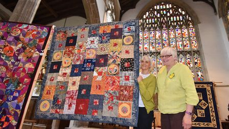Samphire Quilters exhibition at St Nicholas' Chapel, King's Lynn, part of the King's Lynn Festival.