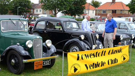 Cars on show at the Lowestoft Classic Vehicle Club rally. Picture: Mick Howes.