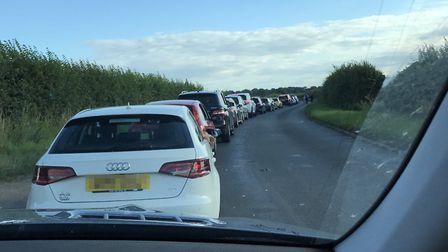 The queues to get into the Tom Jones show at Holkham Hall. Picture: Clare Sparling