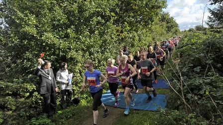 Runners cheered on at the Marriott's Way 10k last year. Picture: Broadland District Council