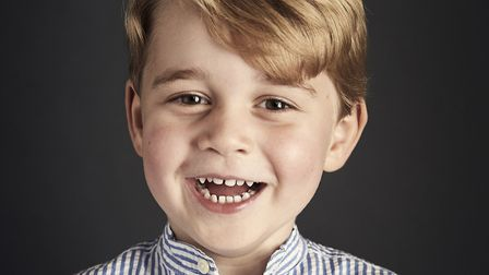 Photo released by the Duke and Duchess of Cambridge of Prince George who celebrates his fourth birth