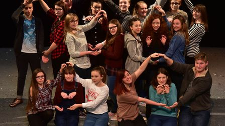 The Marina Theatre's youth theatre group. Picture: Nick Butcher.