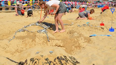 The sandcastle contest at last year's Lowestoft Summer Festival 2016. Picture: Mick Howes