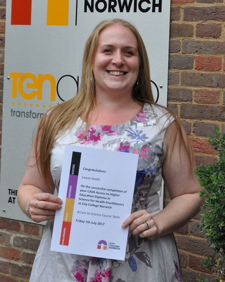 Laurie Smith has completed an access course in science for health practitioners at City College Norw