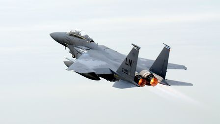 An F-15 Strike Eagle based at RAF Lakenheath. Picture: ARCHANT LIBRARY