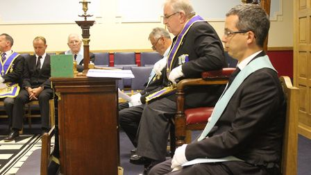 North Norfolk Freemasons demonstrate some of their rituals at an open day held at Sheringham Masonic