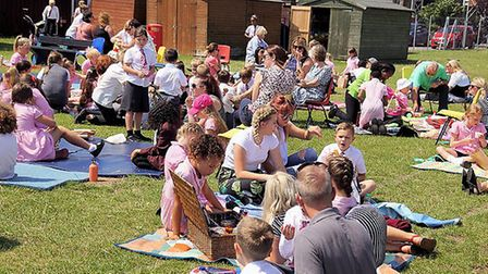 A picnic at the St Mary's primary school site to mark the 50th anniversary. Pictures: Keith Morris