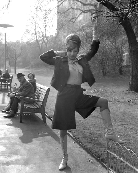 Barbra Streisand, American star of Broadway hit musical Funny Girl, is pictured at the Embankment Ga