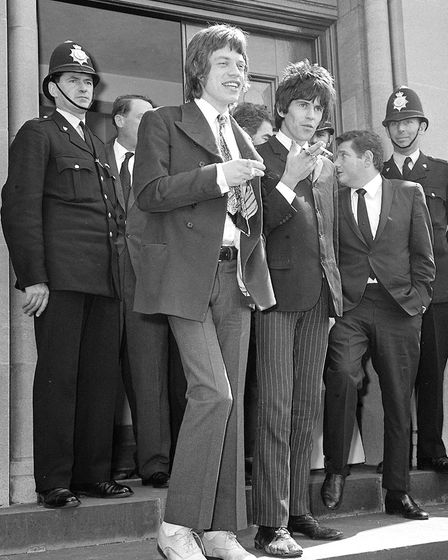 Mick Jagger, (left) and Keith Richards in Chichester, Sussex, where they appeared with Robert Hugh F
