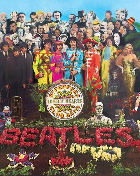The cover of The Beatles album Sergeant Pepper's Lonely Hearts Club Band. Picture: EMI/PA