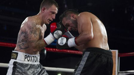 Craig Poxton, left, in action against Ibrar Riyaz at Epic Studios in Norwich. Picture: Jerry Daws/S