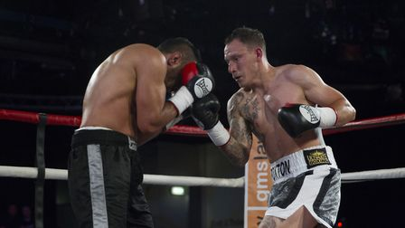 Craig Poxton, right, in action against Ibrar Riyaz at Epic Studios in Norwich. Picture: Jerry Daws/