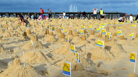 The sandcastles are built during the Lowestoft Summer Festival 2017. Pictures: Mick Howes