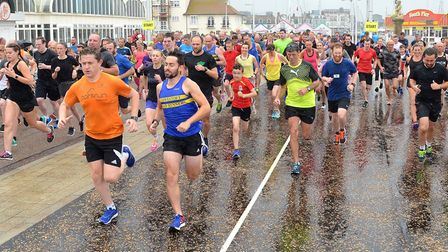 The Lowestoft Parkrun, which started proceedings along the seafront for the Lowestoft Summer Festiva