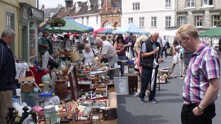 General scenes from the Bungay Antiques Street Fair. Pictures: Terry Reeve