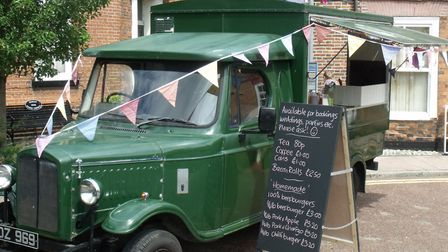 Bungay Antiques Street Fair. A vintage vehicle used as a refreshment stall. Pictures: Terry Reeve
