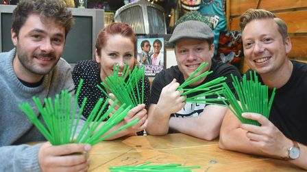 Bar owners get together with biodegradable straws as they encourage bars and restaurants to take par