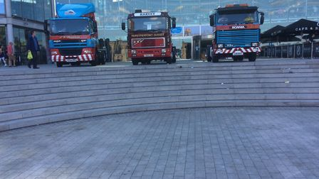 Some of the trucks at the Forum in previous years. Picture: Trevor Howlett