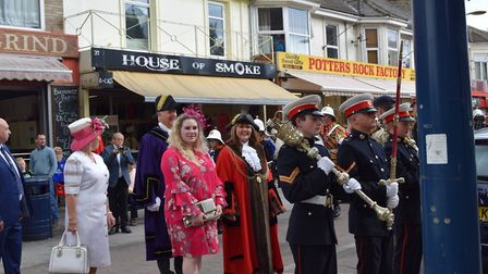 The mayor of Great Yarmouth Kerry Robinson-Payne led the procession to St Mary's Church for the serv