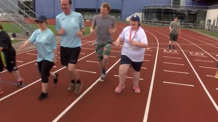 Katie Warrent preparing to take part in the Special Olympics. Photo: Archant