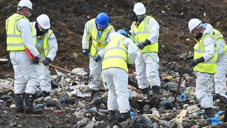 The search operation for missing airman Corrie McKeague at the Milton Landfill site in Cambridgeshir