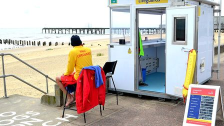 RNLI lifeguards at Lowestoft beach. Picture: Mick Howes