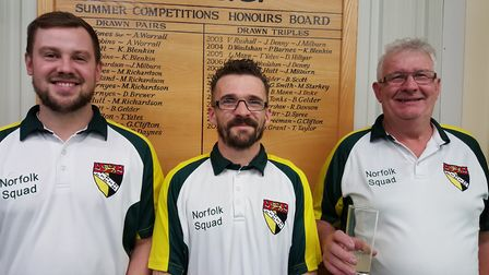 James Forster, Jason Woods and Melvin Woods helped Bob Carter to an 8-0 win over Kirby Bedon. Pictur
