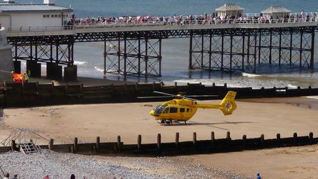 The first emergency call went in at 1.45pm, with the East of England Ambulance Trust attending (Pict