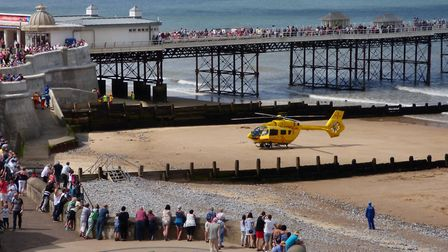 The East Anglian Air Ambulance (EAAA) was called at 3pm and arrived on the scene 15 minutes later to