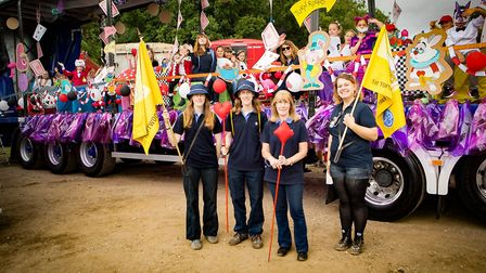 1st Toftwood Brownies with their winning float from Dereham Carnival. Picture: Michael Lyons