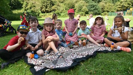 Families take part in outdoor events and a picnic at Kett's Cave Park as part of Love Parks Week.