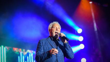 Tom Jones performing on stage at Holkham Hall. Picture: D Kirkham/Valley Music