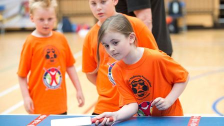 Albert Pye in action at the Panathlon Challenge - South East Primary Final - Olympic Copper Box Aren