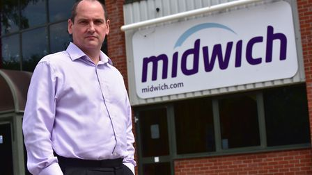 Stephen Fenby, Managing Director of Midwich in Diss.