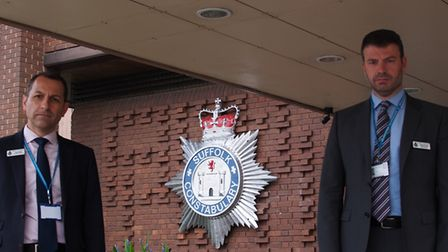 Detective Superintendent Andy Smith (left) and Detective Chief Superintendent Simon Parkes welcomed
