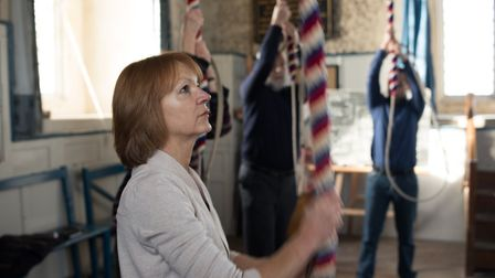 A bell ringer at Wymondham Abbey. Picture: Courtesy of Wymondham Abbey