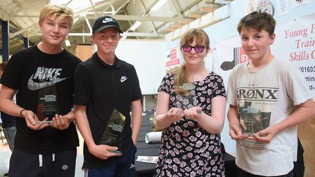 The outstanding student award winners at St Eds, Oak Street, from left, Connor McHugh, transport mai