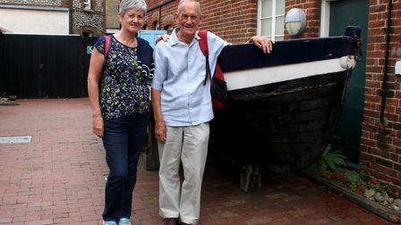 Peter Dugdale and his daughter Jenny at Cromer Museum. Picture: Poppyland Publishing