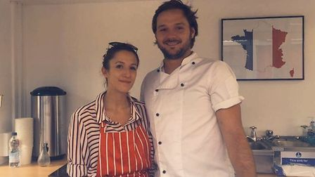 Jake Gower and Madeleine Hutt from the new Jakey le Bakey stall on Norwich Market. Photo: Madeleine