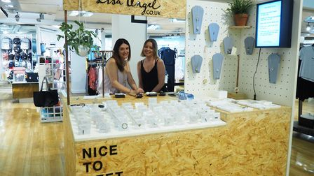 The Lisa Angel concession stand at Topshop in Haymarket, Norwich. Founder Lisa Angel (left). Picture