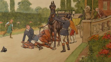 Launch of an exhibition of Black Beauty artwork by Cecil Aldin at The Museum of Norwich at the Bride
