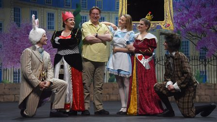 Norwich Theatre Royal Youth Company rehearse Alice Back in Wonderland. Director, David Lambert, with