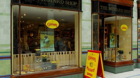 Colman's Mustard Shop in the Royal Arcade in Norwich. Photo: Nick Butcher.