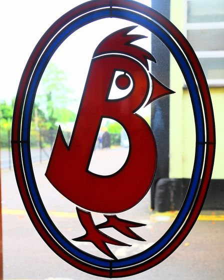 The Banham Poultry logo at the premises in Attleborough. Picture: Denise Bradley