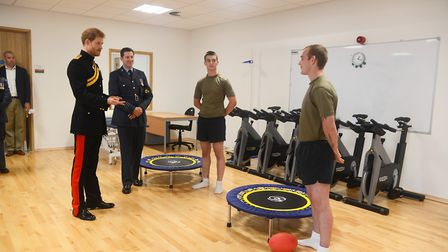 HRH Prince Henry of Wales was given a tour of the Aidan MacCarthy Medical Treatment Facility at RAF