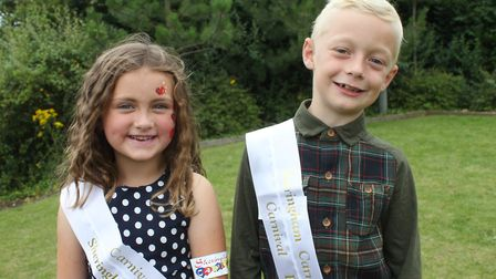 Six-year-old Sheringham Carnivall princess Lottie Cunningham-Brown with prince Jack Yaxley, 8. Pictu