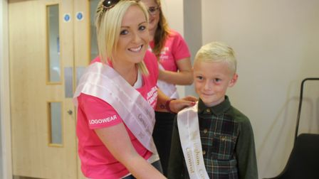 Carnival Queen Abbie Dowsett-Olby with prince Jack Yaxley, 8. Picture: KAREN BETHELL