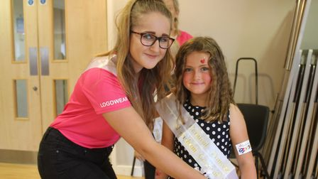 Sheringham Carnival attendant Chloe Hambling with siix-year-old princess Lottie Cunningham-Brown Pic