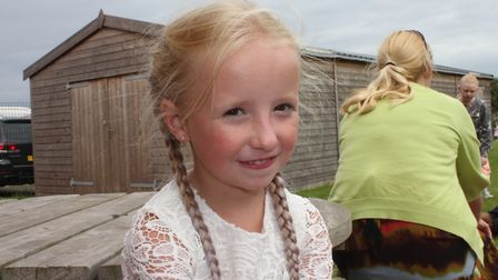 Lexi, 10, at Sheringham Carnival prince and princess selection disco. Picture: KAREN BETHELL